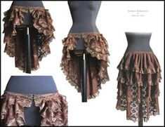 Steampunk Vest and Ruffle Skirt Set by ~annaladymoon on deviantART