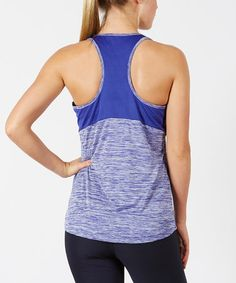 This Egyptian Blue Mesh-Back Tank is perfect! #zulilyfinds