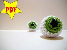 PDF  Crochet Eyeball Plush Toy Pattern  Amigurumi by MadebyJody666