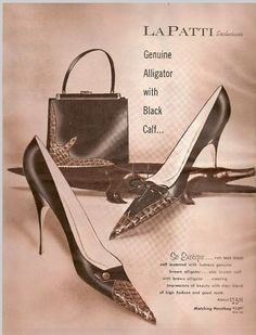 Love this 1961 shoe ad, I can just feel the quality! 70s Shoes, Shoes Ads, Barbie Shoes, Sock Shoes, Shoe Boots, Vintage Shoes, Vintage Accessories, Vintage Outfits, Fashion Accessories