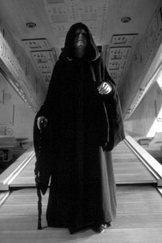 This is Emperor Palpatine from my favorite series ever made: Star Wars. The Emperor has been my favorite character for as long as I can remember because he is the central villain behind the entire Star Wars series. To me, what is fascinating about him is that he manages to go through half of the movies while playing two roles: one, his public role as a senator and eventually Chancellor. And the second as a criminal mastermind who isn't discovered for half the series