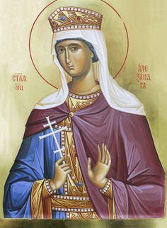 Alexandra of Rome Orthodox Christianity, Orthodox Icons, Saints, Princess Zelda, Female, Rome, Children, Byzantine Icons, Young Children