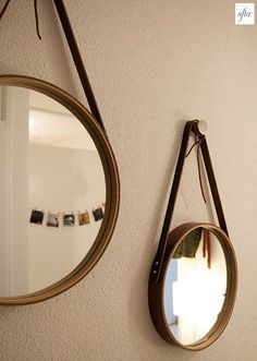 I've never done leatherwork but I would love to give this cute project a go for our bedroom.  It would nice way to dress up the somewhat stark ikea grundtal mirror: http://www.ikea.com/us/en/catalog/products/90245239/