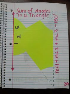 Kelsoe Math Triangles Unit Interior Angle Sum and Exterior Angle