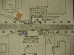 Birds Eye view - one point perspective