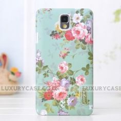 The Cath Kidston Samsung Galaxy Note 3 case is designed by British designer Cath Kidston, combining the Folarl, strips and many other pattern with the phone case!