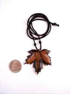 Wood Pendant / Necklace - Wooden Leaf - Wood Jewelry - Leaf Pendant by GatewayAlpha - Fall / Autumn