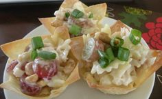 wedding appetizer ideas | Chicken salad appetizer cups - yum