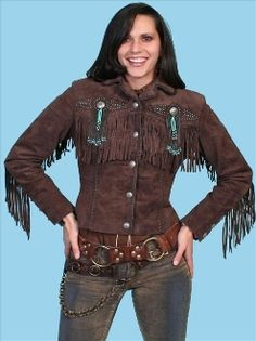 scully western jacket, Scully ladies Chocolate brown beaded fringe western jacket