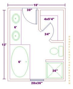 1000 images about bathroom layout on pinterest bathroom for Bathroom designs 8 x 12
