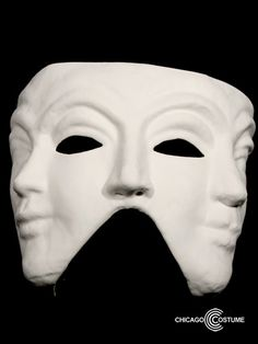 $17 @ ChicagoCostumePaintable Triple Face Mask