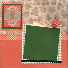 2 page Scrapbooking Layout Kit - Christmas Cookies -Gingerbread