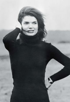 Out of all the ball gowns,dresses,and other beautiful outfits, everyone loved her just as much in a black turtleneck.