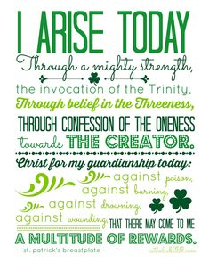 Catholic All Year: Idle Threats, the Miracle of Waffles, St. Patrick's Day Printables, and a Winner