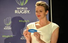 Prince Albert and Princess Charlene at Rugby Events