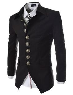 TheLees Mens Casual Slim 8 Button Jacket Blazer $65