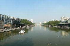 Canal Saint Martin vu de vers la Rotonde de la Villette - Bassin de la Villette