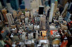 Tilt Shift Effect   NYC, TiltShift effect by ~Alexxhxc on deviantART