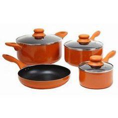 Gibson Colorsplash Branston 7 pc Cookware Set- Orange