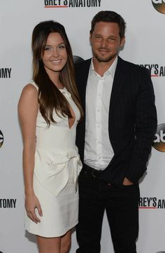 Justin Chambers and Camilla Luddington at the Grey's Anatomy 200th Episode Celebration at The Colony in Los Angeles, California on September...