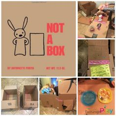 Playing With Cardboard Boxes inspired by Not A Box | Encourage Play Focused on creative play and pretend play, a fun activity for kids