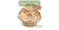I just entered to win a Leafware 300p piece gift basket!  Sign up for your chance to win clicking the picture below!