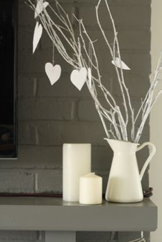 Primitive & Proper: Prayers needed!!! Valentine's Heart & Arrow Wreath, Mantle, And Little Touches of Love