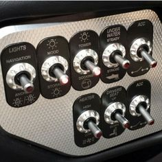 .Illuminated dash toggle switches