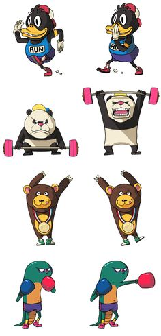 Special Animal Olympic by Sakiroo Choi, via Behance