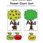 Here's a fun apple themed pocket chart activity! Sort the apple cards by whether you add