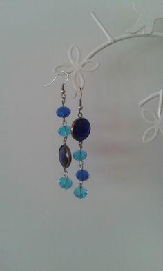 Orecchini blue light