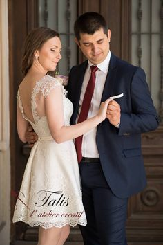 Short wedding dress by Talis, for unforgettable moments