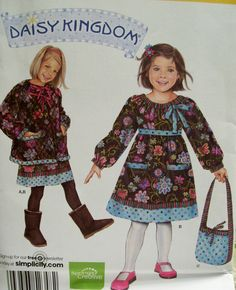 alternative to village frock? Child's Dress, Jacket and Bag Simplicity 2348 Daisy Kingdom  UNCUT. $3.50, via Etsy.