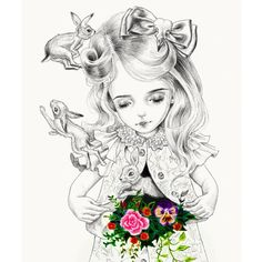 Kai Fine Art is an art website, shows painting and illustration works all over the world. Illustrations, Illustration Art, Pop Surrealism, Dark Art, Art Lessons, Alice In Wonderland, Amazing Art, Art Drawings, Pencil Drawings