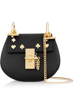 Chloé | Drew nano studded leather shoulder bag | NET-A-PORTER.COM
