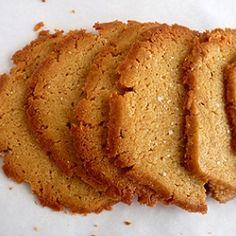 brown sugar semolina cookies w/ sea salt
