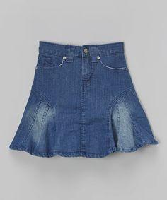Love this Denim A-Line Skirt - Girls on #zulily! #zulilyfinds