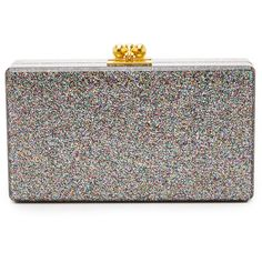Edie Parker Jean Rainbow Glitter Clutch ($900) ❤ liked on Polyvore featuring bags, handbags, clutches, rainbow glitter, edie parker, flap handbags, edie parker clutches, glitter clutches and glitter handbags