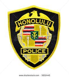 HAWAIIAN POLICE  | Honolulu Hawaii Police Department Uniform Shoulder Patch Stock Photo ...