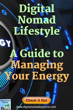 Managing your energy - what an important topic and not only for digtial nomads! I spent a lot of time to research and arrange this article. I would appreciate if you would pin and take a look at the article if you can! Thanks & cheers, Michael Personal Development Skills, Nutrition And Dietetics, Entrepreneur Motivation, Digital Nomad, Energy Level, Work Travel, Online Work, How To Know, Explore