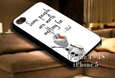Disney Frozen Olaf Quote for iPhone case-iPhone 4/4s/5/5s/5c case cover-Samsung Galaxy S3/S4/ case cover