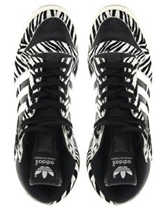Enlarge Adidas Decade Animal Print High Top Trainers