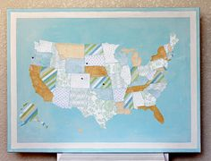 Create A Map Using Textiles From The Places You Have Traveled To - Create a us map with pins