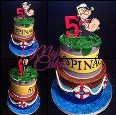 Popeye the sailor man cake