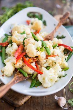 Ginger Garlic Steamed Vegetables | The Healthy Foodie