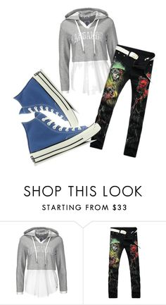 """ why ""   ""  because I can  "" by temmie-badger ❤ liked on Polyvore featuring Converse"