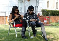 August 29, 2012: Fans attending a candle lit vigil commemorating Michael Jackson's birthday in Gary, Indiana.