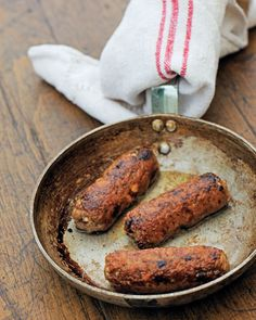 Children love helping to make these sausages. There are lots of variations that you can try, including sage and grated apple, garlic and thyme, or Cajun-spiced. I love eating my sausages with a soft polenta or creamy whipped potatoes. Tomato Sausage Recipe, Sausage Recipes, Dog Food Recipes, Vegetarian Recipes, Cooking Recipes, Elk Recipes, Chorizo, Bangers Recipe, Hot Dogs