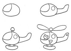 drawing helicopter with preschool children - nimivo sites Drawing Lessons For Kids, Drawing Tutorials For Kids, Easy Drawings For Kids, Colorful Drawings, Art Drawings Sketches, Cartoon Drawings, Animal Drawings, Cute Drawings, Desenho Kids