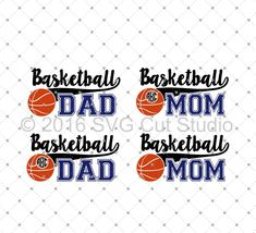 Basketball Mom, Basketball Dad SVG Cut Files for Cricut and Silhouette
